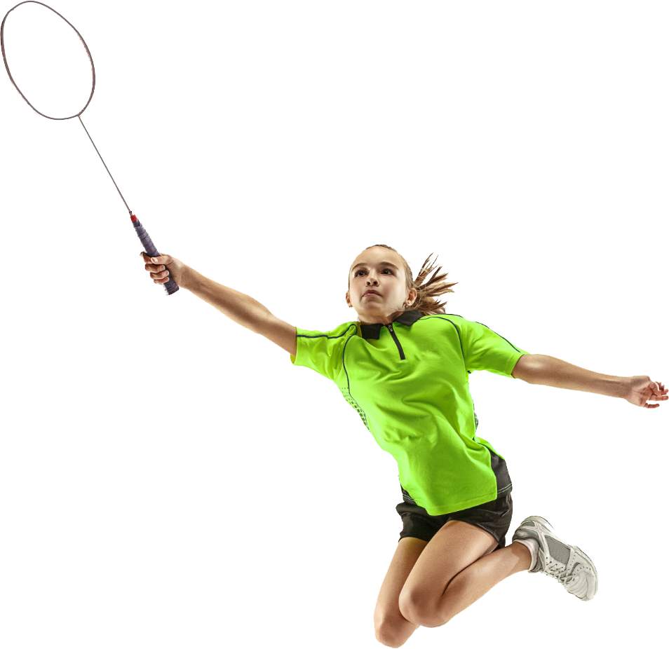 Badminton club in sussex - young girl holding badminton racket
